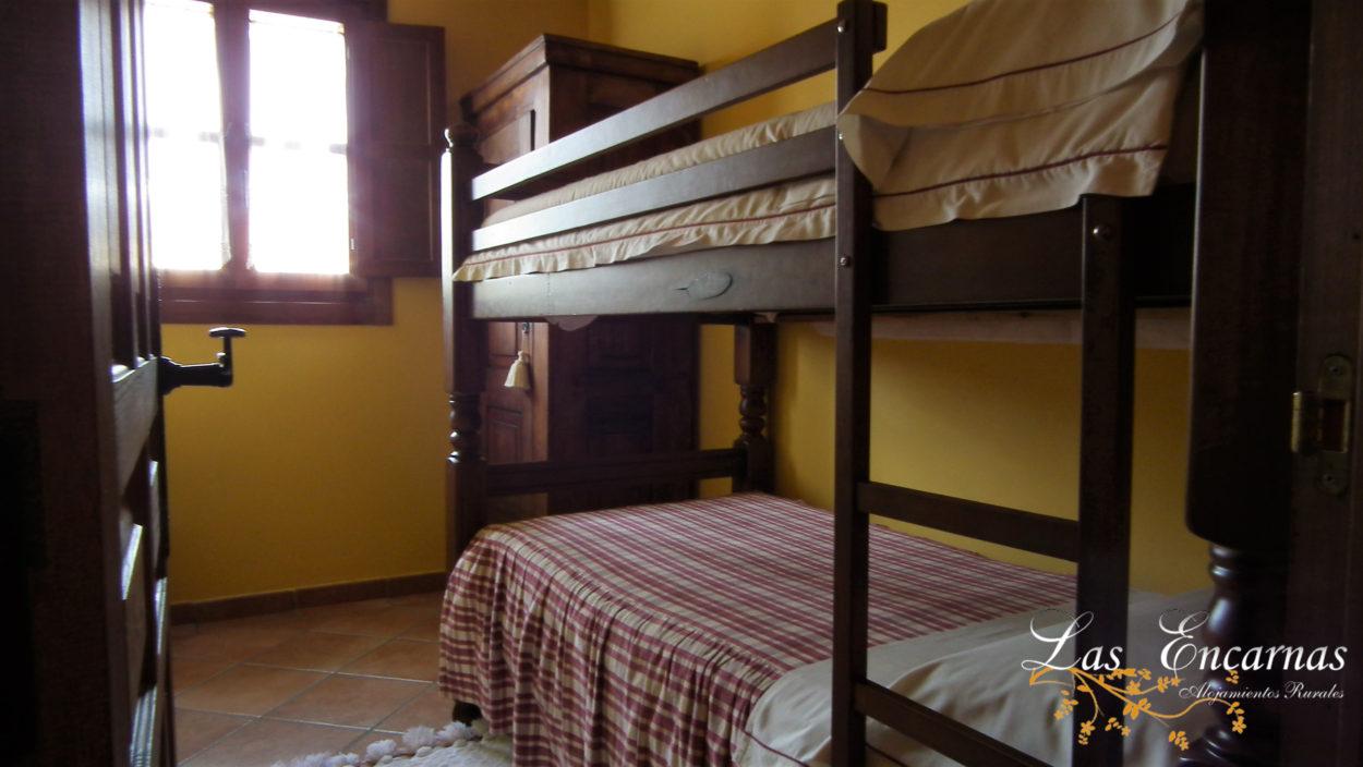 Habitación, cama litera, 4 personas