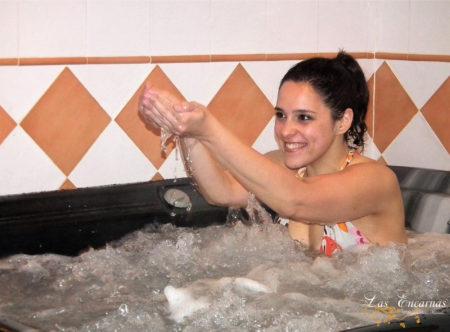 Masaje con burbujas en el Jacuzzi